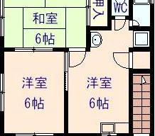 賃貸アパート 山手町 2DK 4.4万円のサムネイル