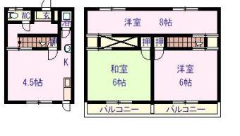 松山アパート 3号室 4.0万円のサムネイル